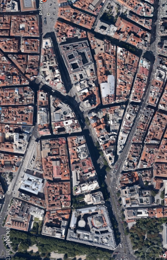 Madrid de google earth