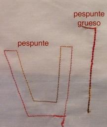 PG tipos pespunte formas